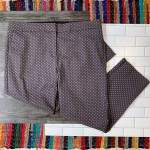 Boden Purple Dot Printed 7/8 Richmond Trousers
